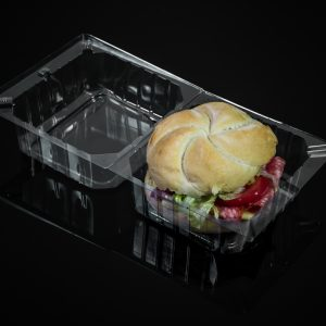 Clear Hinged Container Round Roll (300)